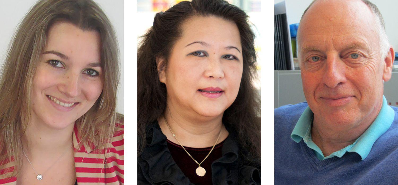 Portraitbilder von Scarlett Kooijmans, Dr. Monique Apon-Lim und Dr. Sander Feith