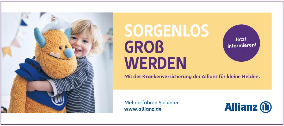 Anzeige Allianz Kinderkrankenversicherung