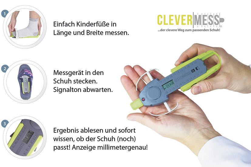 Clevermess Kids – digitales Fuß- und Schuhmessgerät